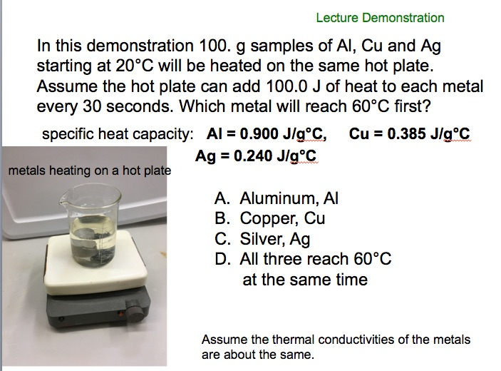 how to find specific heat of a metal