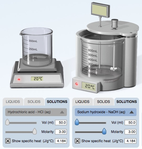 Heat of Neutralization: HCl(aq) + NaOH(aq) | Chemdemos