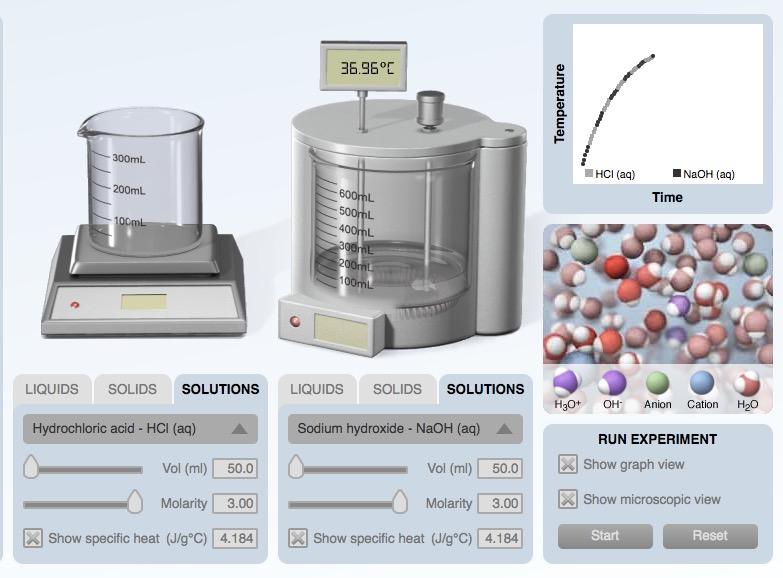 Calorimetry Computer Simulation