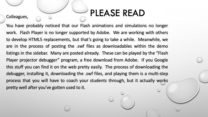 Flash notice