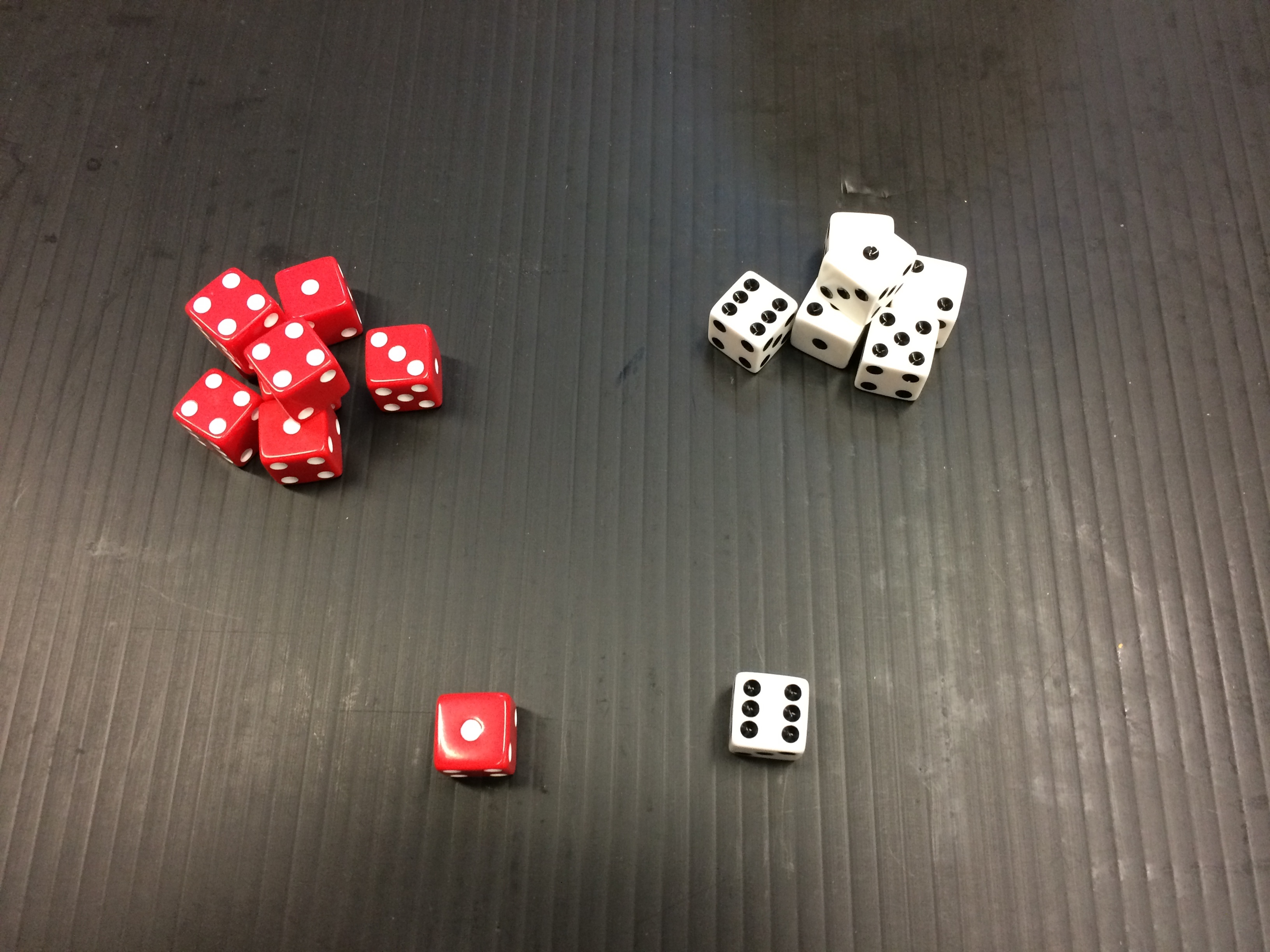 Dice used for entropy activity