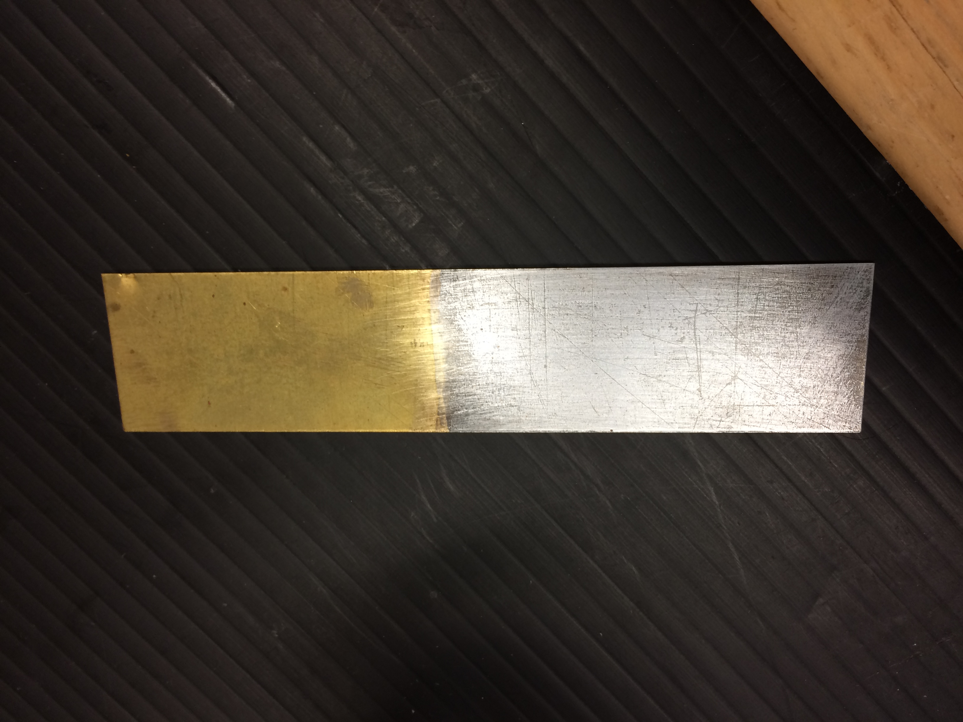 Electrolysis: Zinc metal plated on a copper electrode