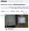 Screen shot of Vimeo page